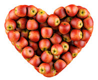 Heart of apples. Royalty Free Stock Images