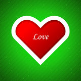 Heart applique background. Royalty Free Stock Photo