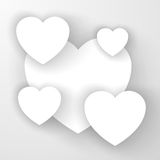 Heart applique background. Vector illustration for your design Stock Illustration