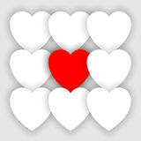 Heart applique background Stock Photography