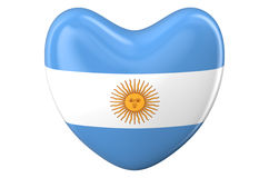 Heart with Argentinean flag Royalty Free Stock Photos