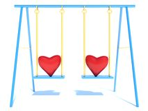 Heart with arms and legs on a swing.  Royalty Free Stock Photos