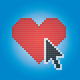 Heart and arrow Stock Image