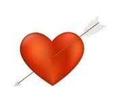 Heart with Arrow Stock Photography