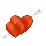 Heart with Arrow Royalty Free Stock Image