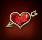 Heart with arrow Stock Image