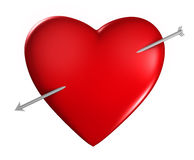 Heart with arrow Stock Photography