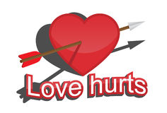 Heart and arrow. Stock Photography
