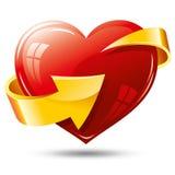 Heart and arrow Royalty Free Stock Photography