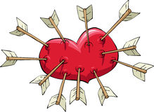 Heart and arrow Stock Photography
