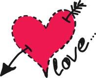 Heart with an arrow Stock Photos