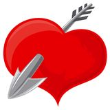 Heart and arrow stock illustration