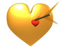 Heart and Arrow. Heart Pierced With an Arrow Royalty Free Stock Photography