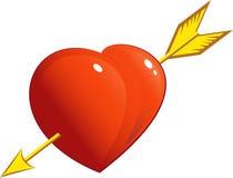 Heart with arrow royalty free stock photos