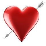 Heart with arrow. 3D rendering of a heart with arrow Stock Photo