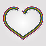 Heart arrow background Royalty Free Stock Images
