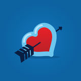 Heart with Arrow Royalty Free Stock Photo