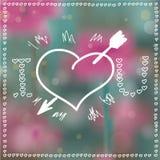 Heart Arrow Bokeh Background Royalty Free Stock Photos