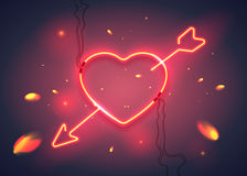 Heart arrow fire-01 Royalty Free Stock Photo