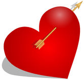 Heart with arrow Royalty Free Stock Photography