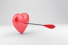 Heart with arrow Stock Images