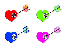 Heart with arrow Stock Photos