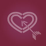 Heart and arrow symbol Royalty Free Stock Images