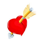 Heart and arrow. Symbol love for saint Valentines day Royalty Free Stock Images