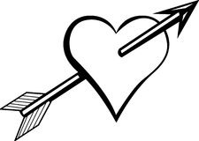 Heart with arrow vector illustration Stock Images
