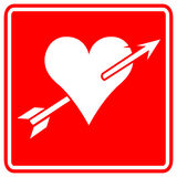 Heart with arrow vector sign Stock Photography