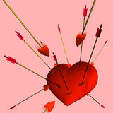 Heart and Arrows Royalty Free Stock Image