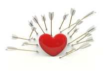 Heart with arrows Royalty Free Stock Image