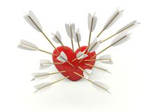 Heart with arrows Stock Photography