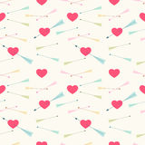 Heart and arrows pattern Royalty Free Stock Photos
