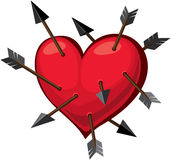Heart and arrows Royalty Free Stock Photo