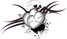 Heart arrows tattoo tshirt Stock Photos