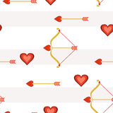 Heart Arrows Tile Royalty Free Stock Image