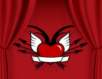 Heart with arrows and wings. Royalty Free Stock Photos
