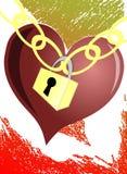 Stylized heart with padlock Stock Photo