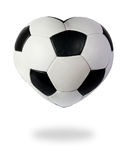 Heart as black white soccer ball_1 Royalty Free Stock Images