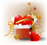 Heart as a gift stock illustration
