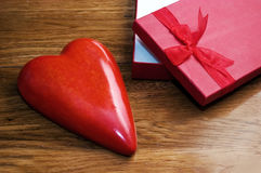 Heart as a gift Royalty Free Stock Images