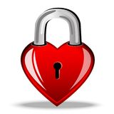 Heart as a lock Stock Image