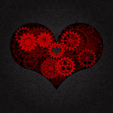 Heart as a mechanism made of cogs and gears. Vector Illustration  of steampunk heart.  Stock Image