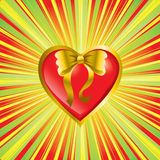 Heart as a present Royalty Free Stock Photography