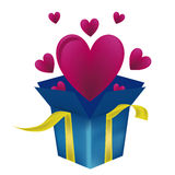 Heart as a present Royalty Free Stock Photo