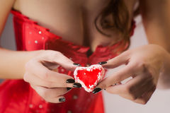 Heart as present for you Stock Photography