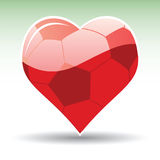 Heart As Soccer Ball Stock Image