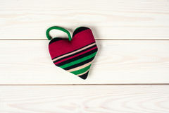 Heart  as a symbol of love. Heart handmade as a symbol of love on a wooden background Royalty Free Stock Photography