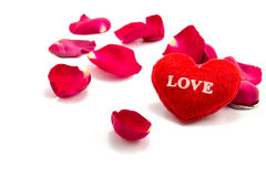 heart as a symbol of love with rose, valentin's day Royalty Free Stock Image